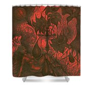 Red Hell  Shower Curtain