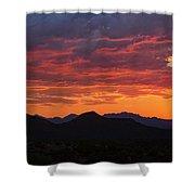 Red Hot Desert Skies  Shower Curtain