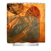 Red Kiss - Tile Shower Curtain