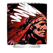 Red Pipe Shower Curtain by Paul Sachtleben