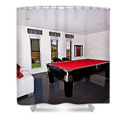 Red Pool Table Shower Curtain