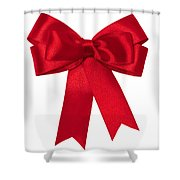 Red Ribbon Shower Curtain