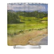Red River Marsh Shower Curtain