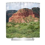 Red Rock At Caprock  Shower Curtain