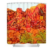 Red Rock Canyon Loop Shower Curtain