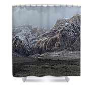 Red Rock Canyon Snow Storm Shower Curtain