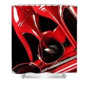 Red Stylish Accessories Shower Curtain