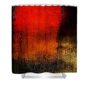 Red Tide Vertical Shower Curtain