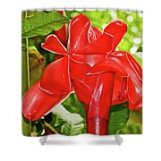 Red Tropical Flower In Huntington Botanical Gardens In San Marino-california Shower Curtain