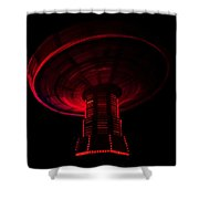 Red Wheel Shower Curtain