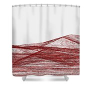 Red.318 Shower Curtain