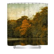 Reflecting October Shower Curtain