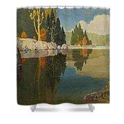 Reflective Lake Shower Curtain