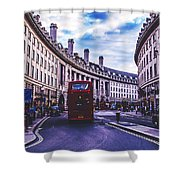 Regent Street In London Shower Curtain