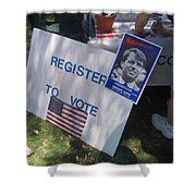 Register To Vote Bobby Kennedy Poster Sylver Short Hand Peart Park Casa Grande Arizona 2004 Shower Curtain