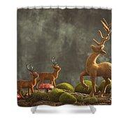 Reindeer Scene Shower Curtain