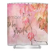 Remember To Be Grateful Shower Curtain