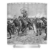 Remington: Cowboys, 1888 Shower Curtain