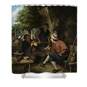 Resting Travellers Shower Curtain