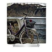 Retro Bike Shower Curtain