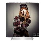 Retro Style Fashion Shower Curtain