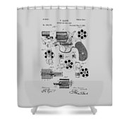 Revolving Fire Arm Patent 1881 Shower Curtain