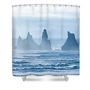 Reynisdrangar. Shower Curtain