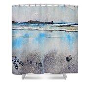 Rhossili Bay, Wales Shower Curtain
