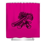 Rhubarb Stalks Shower Curtain
