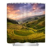 Rice Terraces Shower Curtain