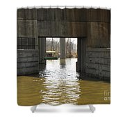 Richmond Floodwall Opening For Canal Shower Curtain