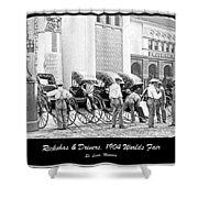 Rickshas And Drivers, 1904 Worlds Fair Shower Curtain