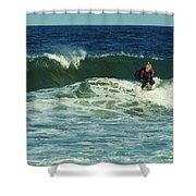 Riding Easy - Jersey Shore Shower Curtain by Angie Tirado