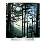 Riding The Warm Currents Shower Curtain