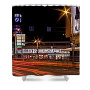 Riga By Night Shower Curtain