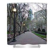Rittenhouse Square In The Morning Shower Curtain