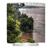 River Bluff View Shower Curtain