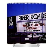 River Roads Mall Marquee Sign  Shower Curtain
