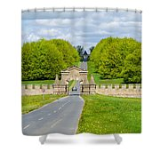 Road To Burghley House Shower Curtain