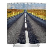 Road To Nowhere. Shower Curtain