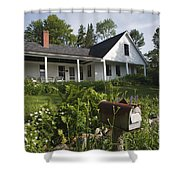 Robert Frost Homestead - Franconia New Hampshire Usa Shower Curtain