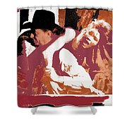 Robert Mitchum Hauls Angie Dickinson Collage Young Billy Young Old Tucson Arizona 1968-2013 Shower Curtain