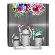 Robo-x9 Celebrates Freedom Shower Curtain