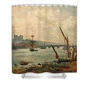 Rochester Cathedral And Castle Shower Curtain