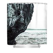Rock-face Shower Curtain