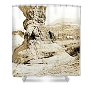 Rock Formation, Garden Of The Gods, 1915, Vintage Photograph Shower Curtain