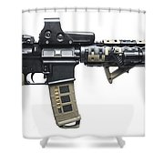Rock River Arms Ar-15 Rifle Equipped Shower Curtain