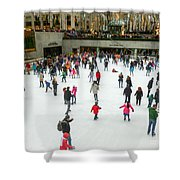 Rockefeller Center Skating Rink New York City Shower Curtain