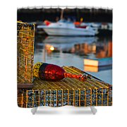 Rockport Ma Lobster Traps Shower Curtain