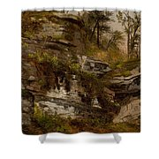 Rocky Cliff Shower Curtain